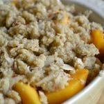 Peach and Almond Crisp (gluten free)