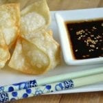 Crispy Goat Cheese Wontons with Chili Dipping Sauce