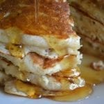 Banana Buttermilk Pancakes (with pecans and vanilla bean)