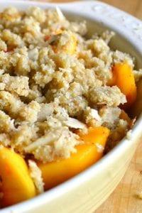 Peach and Almond Crisp, Gluten Free