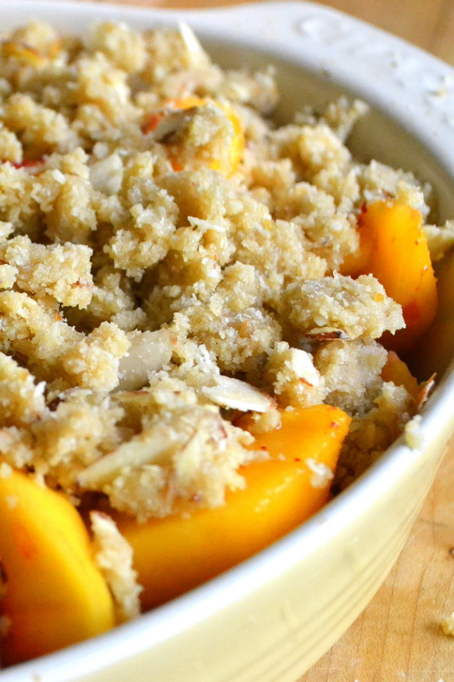 Peach and Almond Crisp, Gluten Free