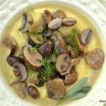Browned Butter and Sage Mushrooms with Polenta
