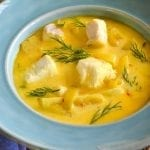 Halibut and Saffron Soup