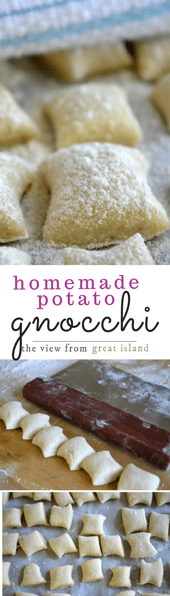 Homemade Gnocchi ~ this light pasta dumpling recipe is made with fluffy baked potato in the dough and is the only homemade pasta I've found that is actually easy to make! | Italian recipe #pasta #gnocchirecipe #easygnocchi #bestgnocchi #homemadegnocchi #homemadepasta #easyhomemadepasta #Italian #potatognocchi #comfortfood #dinner