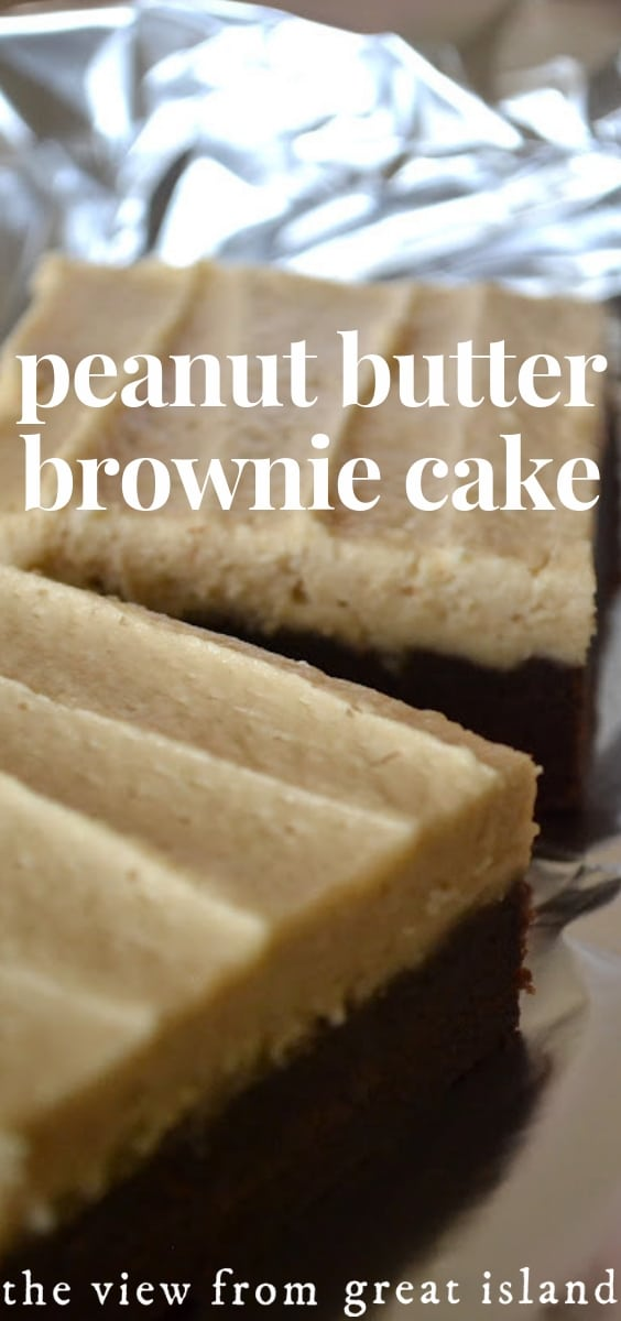 Peanut Butter Brownie Cake pin