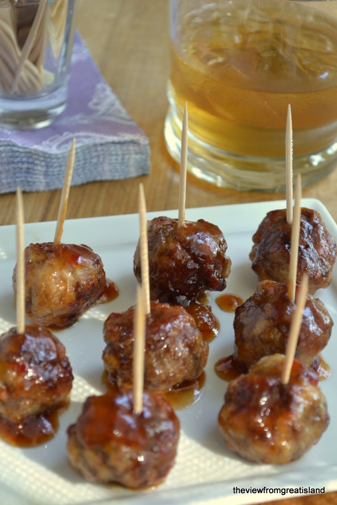 Bourbon Glazed Cocktail Meatballs