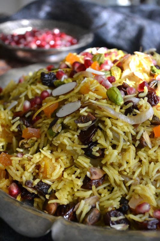 A mound of Persian Jeweled Rice