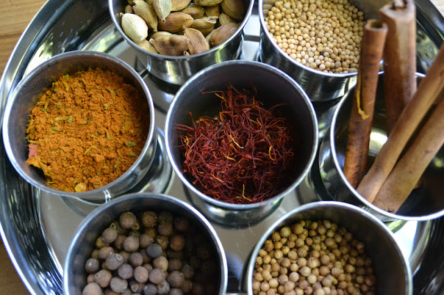 spices for Persian Jeweled Rice