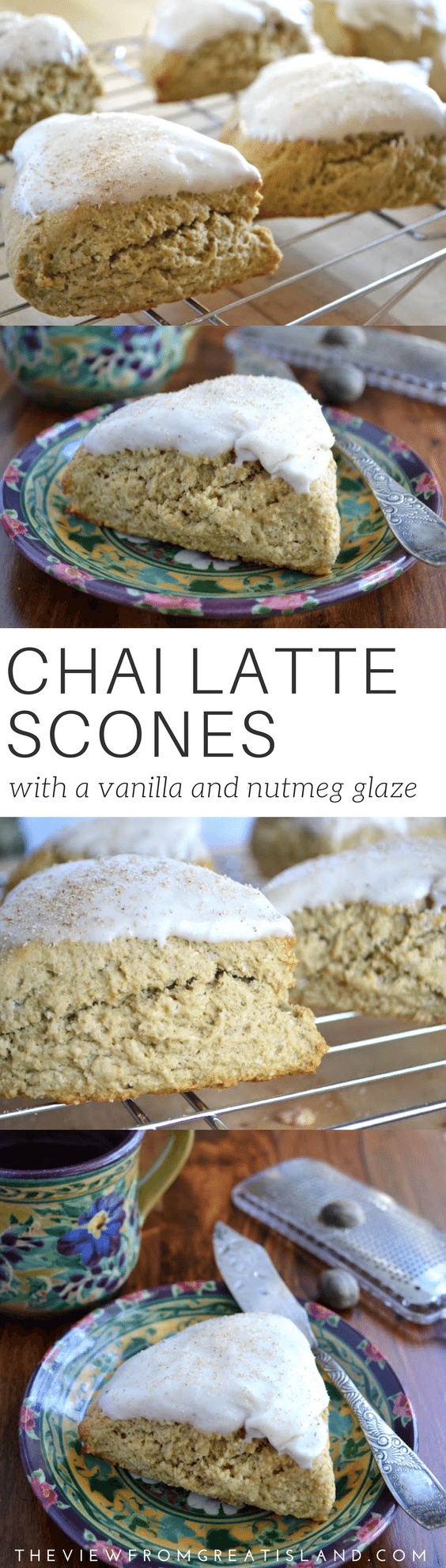 Chai Latte Scones ~ chai, the mixed spice tea from India, has the most wonderful spices in it, but I'm not much of a tea drinker, so I made my scones with coffee instead. #breakfast #scones #chaitea #chai #baking #breakfastrecipe