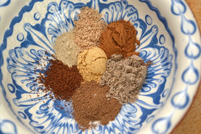 Homemade chai spice mix for chai latte scones