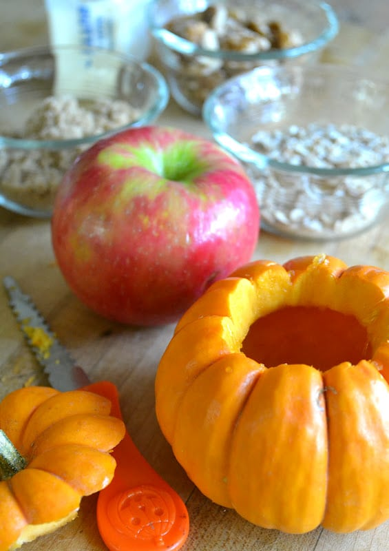 MakingApple Crisp Stuffed Mini Pumpkin image