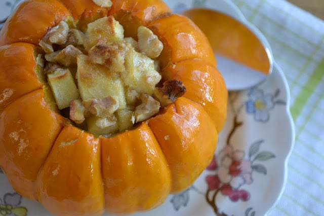 Apple Crisp Stuffed Mini Pumpkin