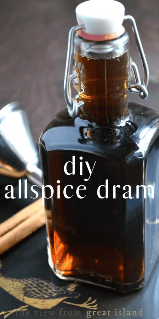 homemade allspice dram pin