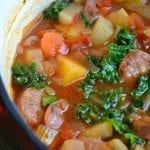 Root Vegetable Soup with Sausage and Kale
