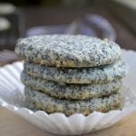 Almond Poppy Seed Butter Cookies