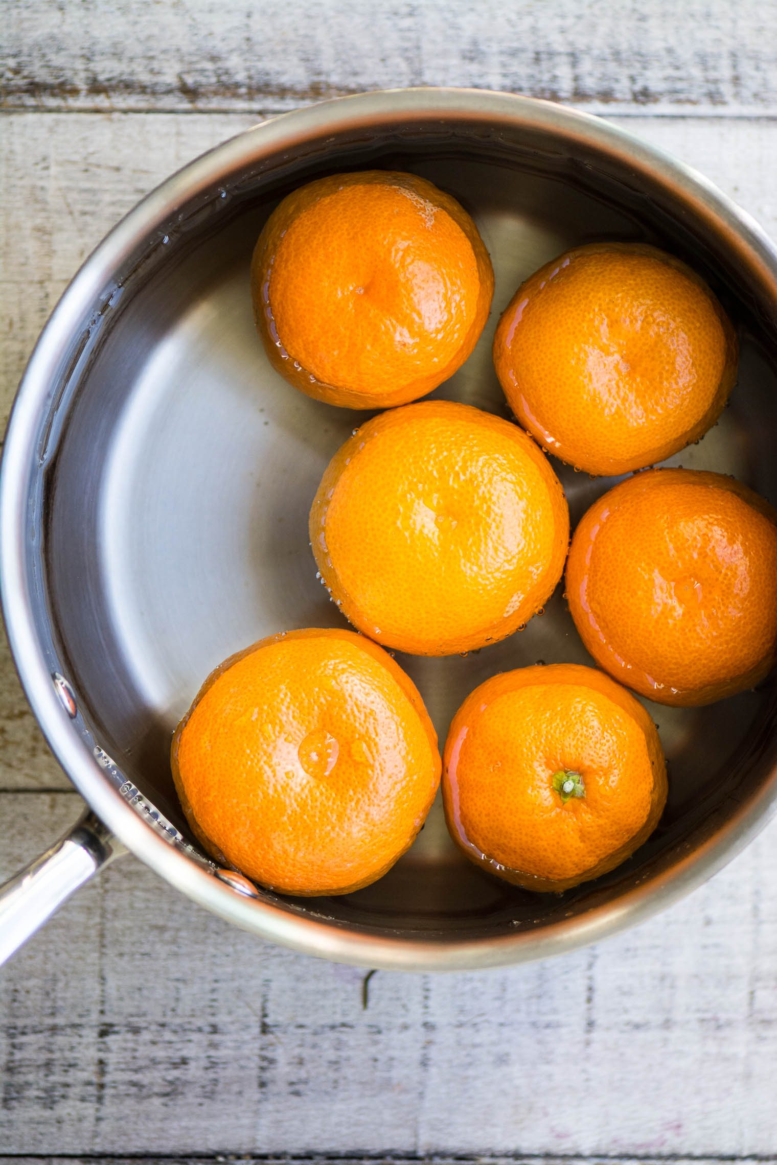 Making Gluten Free Tangerine Cake with whole tangerines ~ image