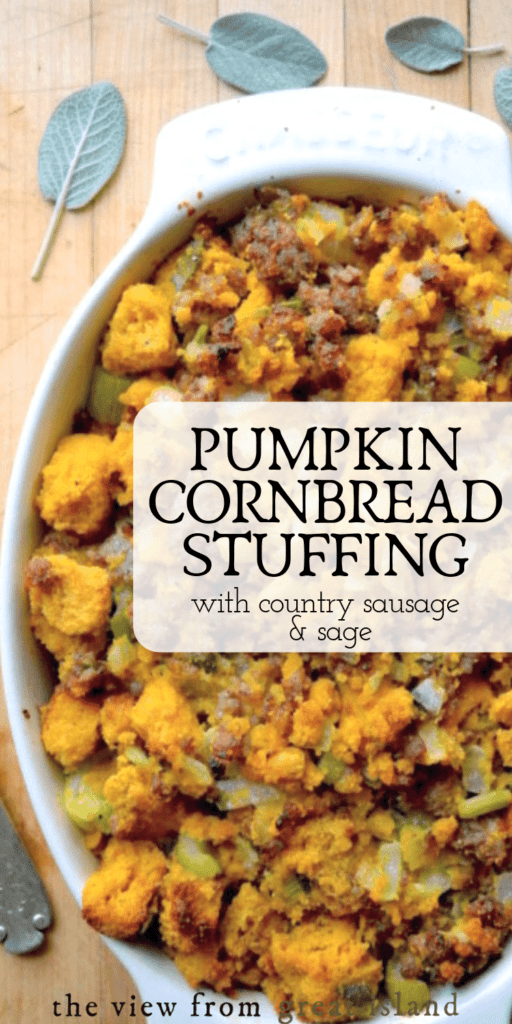 pumpkin cornbread stuffing pin