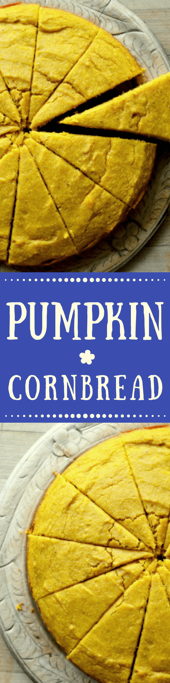 HOMEMADE PUMPKIN CORNBREAD ~ this luscious pumpkin and spice quick bread is the first thing I make every fall, it's the perfect side dish to soups, stews, and chilis! #pumpkin #fall #cornbread #Thanksgivingside #Christmasside #pumpkinbread #quickbread