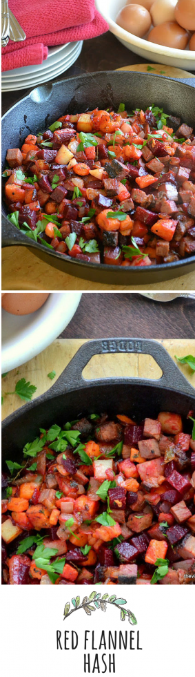 An old fashioned classic, Red Flannel Hash is a wonderfully hearty breakfast!