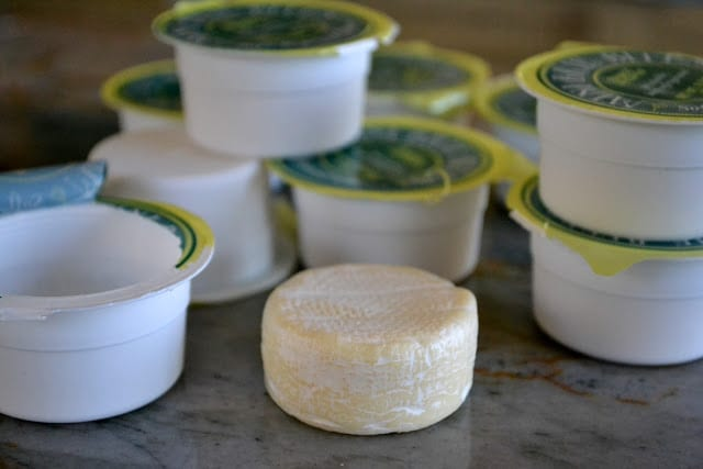 Individual Brie cheese wheels