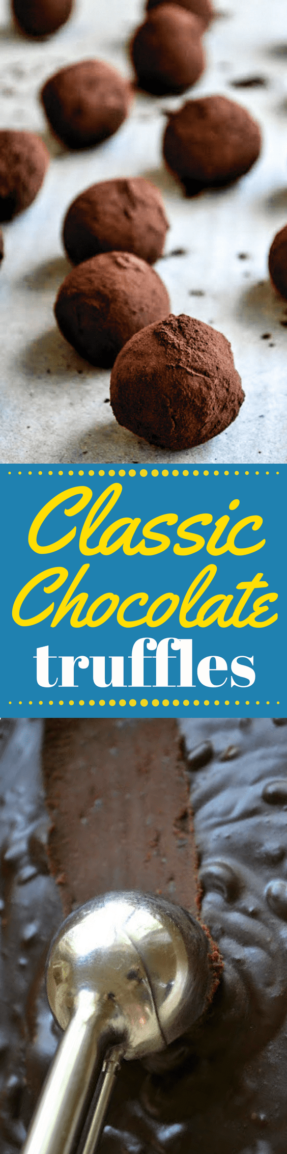 Like a great cup of coffee, or a perfect scrambled egg, everybody needs to know how to make The Classic Chocolate Truffle! ~ theviewfromgreatisland.com