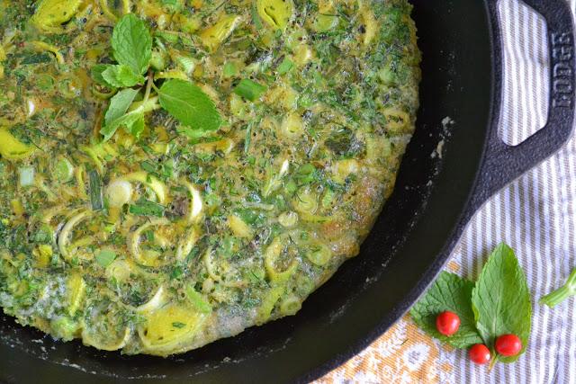 Persian Mixed Herb Frittata (Kuku Sabzi)