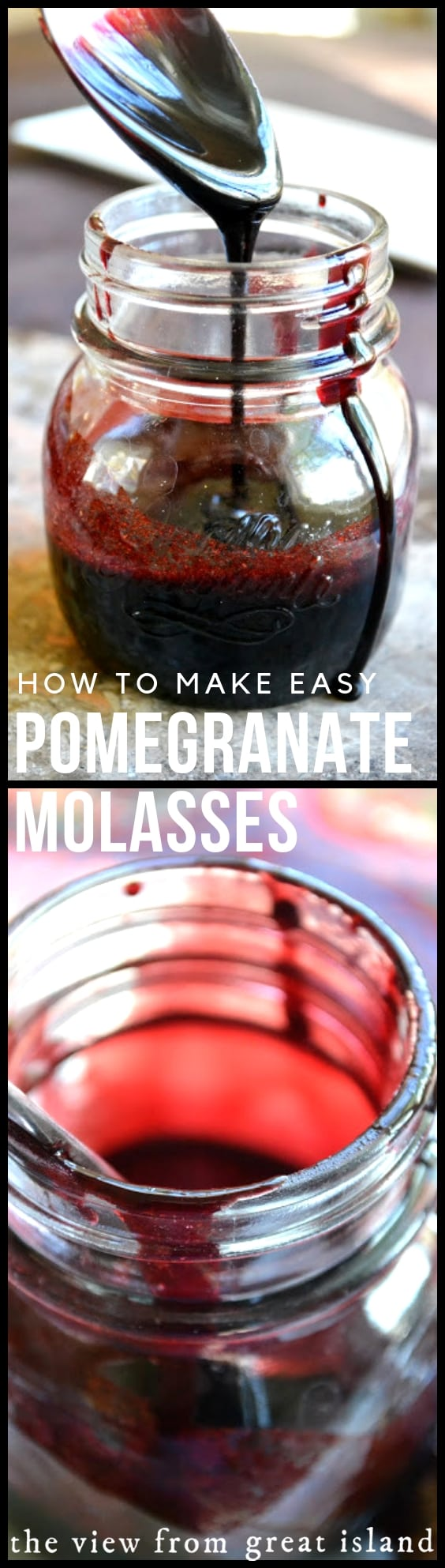 How to Make Pomegranate Molasses ~ an easy method for making this authentic classic Middle Eastern condiment right in your ownkitchenwith pomegranate juice! #easy #recipe #diy #authentic #pomegranate #juice #middleeastern #syrup #condiment #sauce #homemade