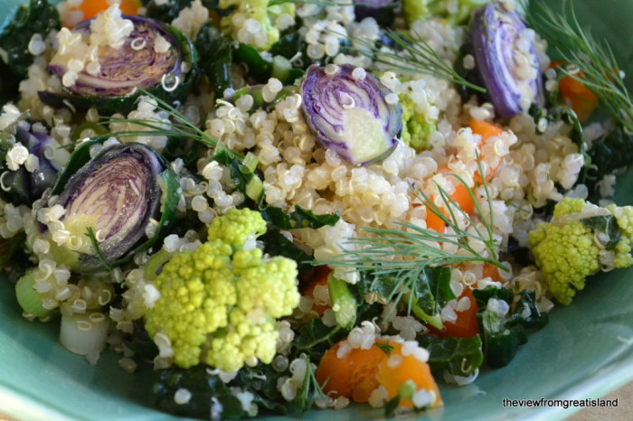 Quinoa Salad Closeup