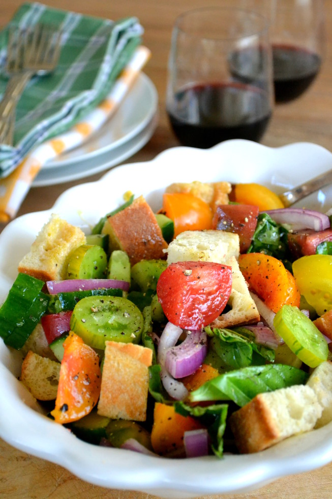 Heirloom Tomato Panzanella Salad