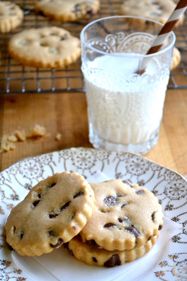 Chocolate Chip Peanut Butter Shortbread Cookies Revisited 2