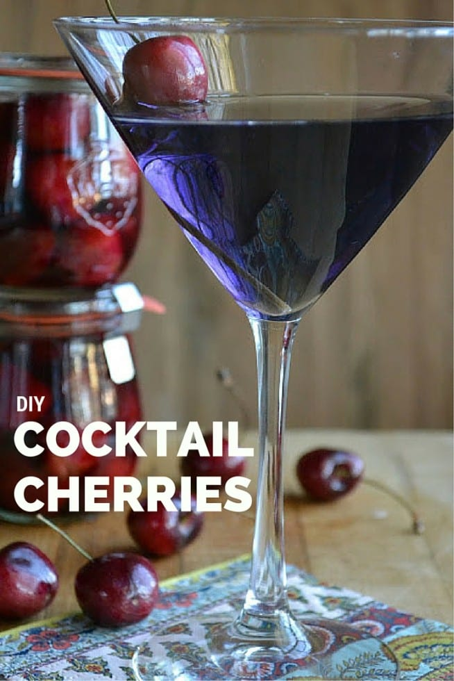 DIY Cocktail Cherries — because every great cocktail deserves a great garnish, and this is one cherry you won't leave at the bottom of your glass! | theviewfromgreatisland.com