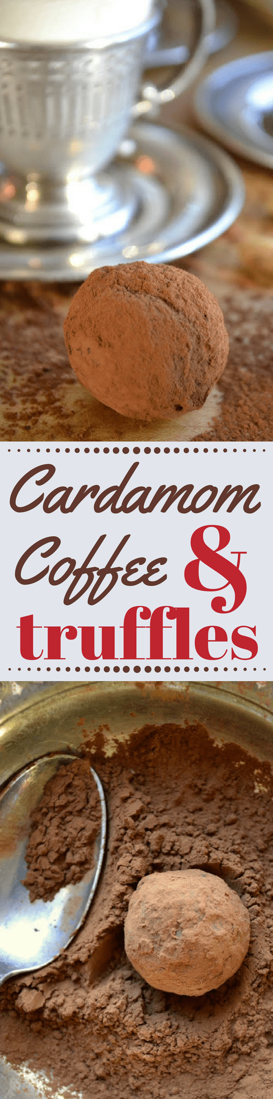 Easy Coffee and Cardamom Truffles ~ a decadent combination of dark chocolate, cardamom, and coffee! ~ theviewfromgreatisland.com
