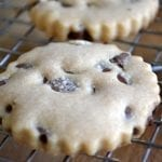 Milk Chocolate Chip Peanut Butter Shortbread Cookies