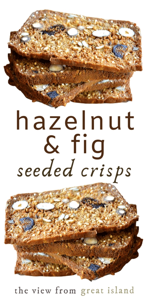 Hazelnut Fig Seeded Crisps pin