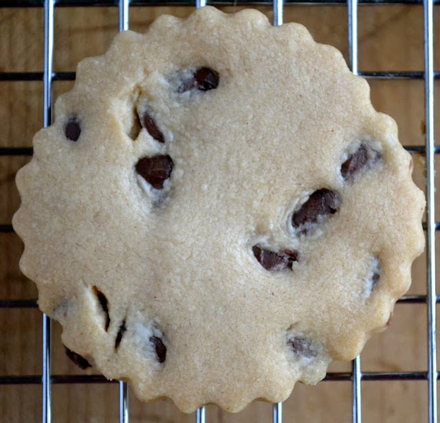 Milk Chocolate Peanut Butter Chocolate Chip Shortbread Cookies ~ theviewfromgreatisland.com