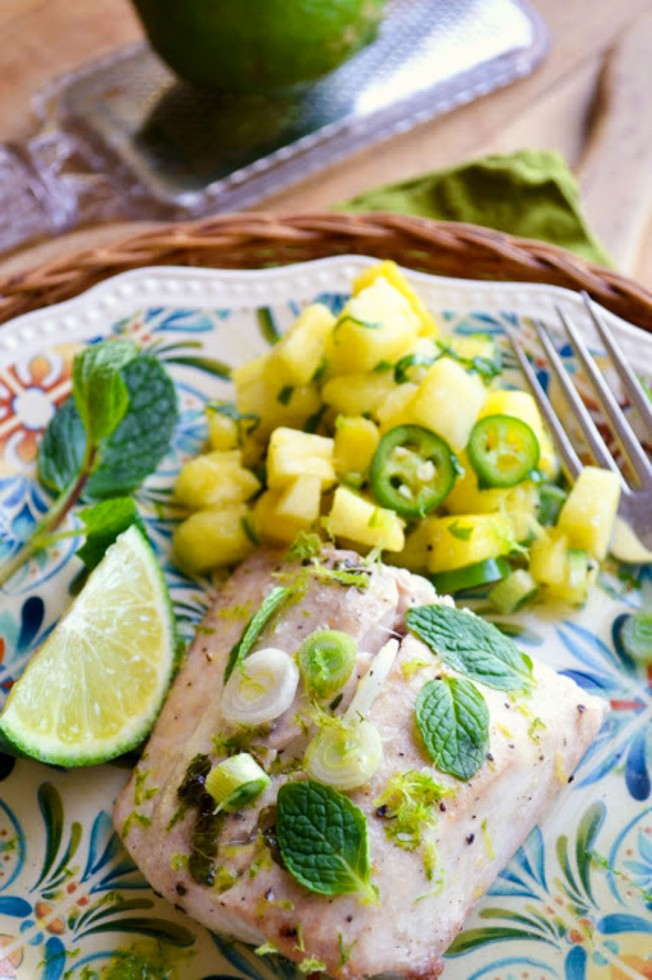 mojito mahi mahi with pineapple salsa