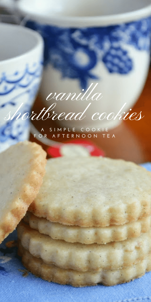 Vanilla Bean Shortbread Tea Cookies pin