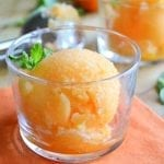 Healthy One Ingredient Tangerine Sorbet