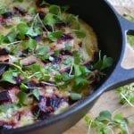 Roasted Beet and Micro Kale Egg White Frittata