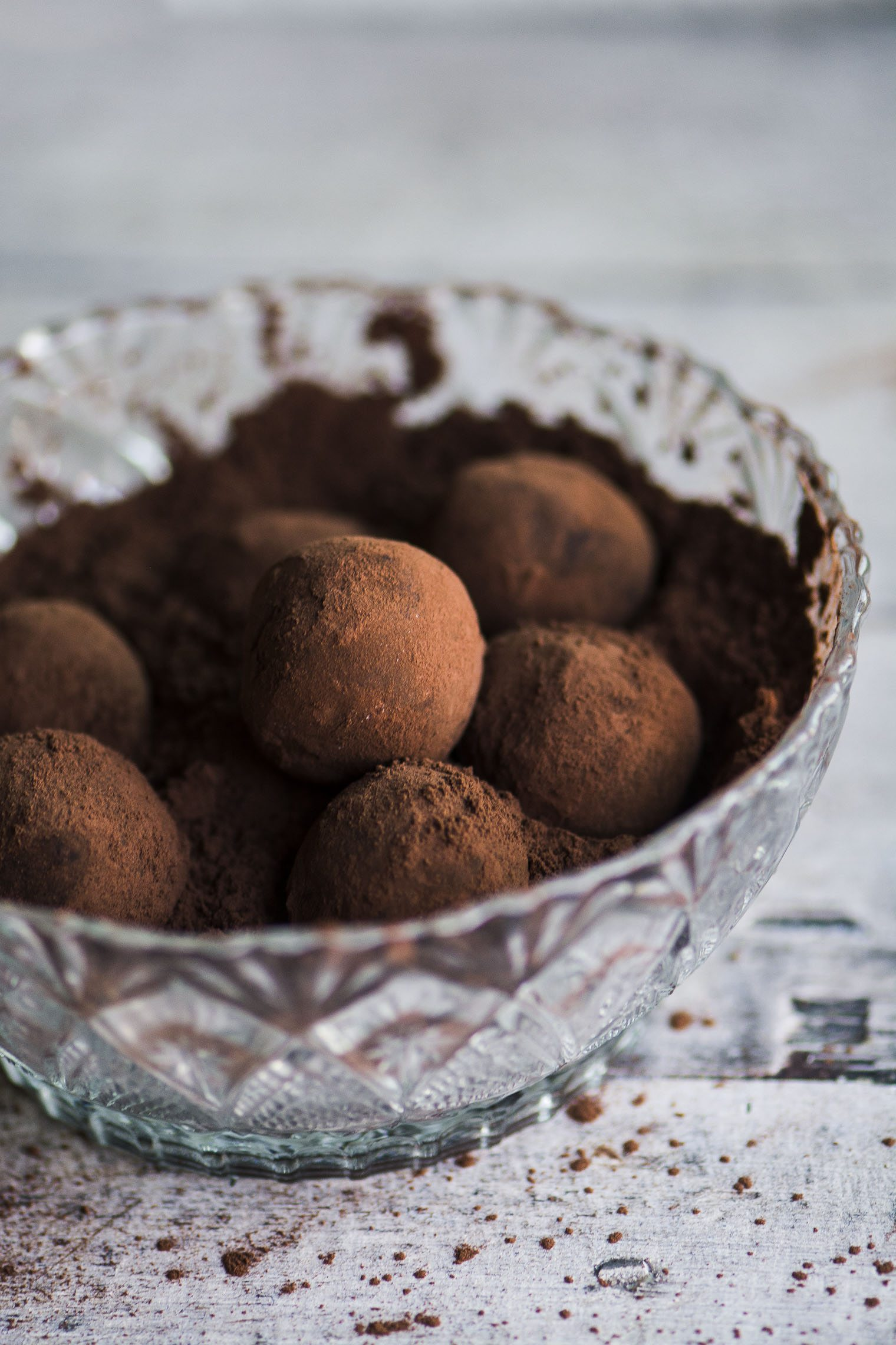 a bowl of chili pepper truffles