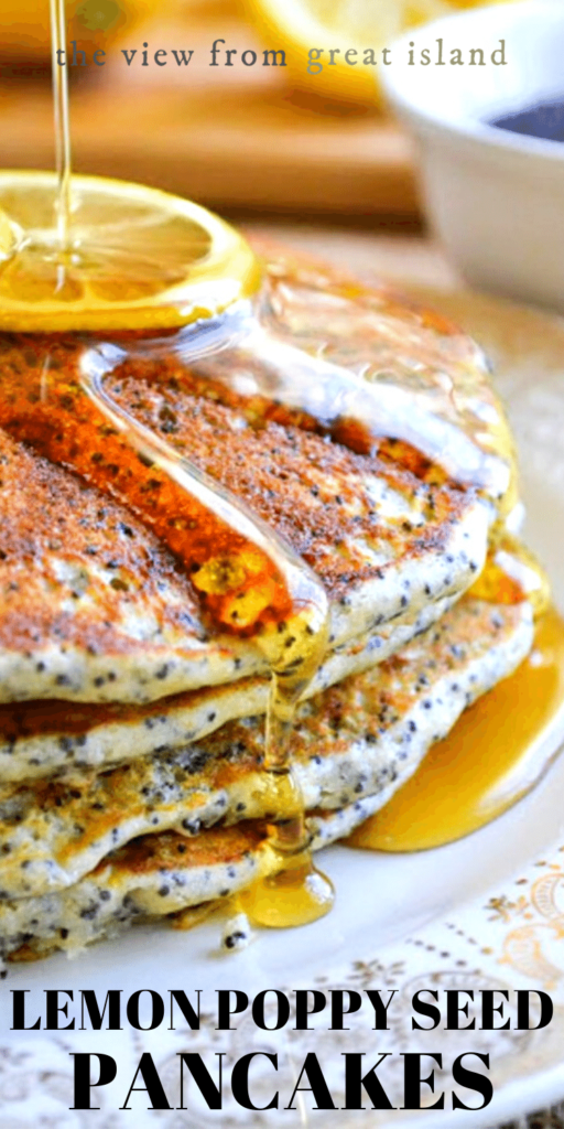 lemon poppy seed pancakes pin