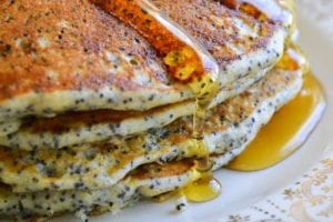 lemon poppy seed pancakes 5