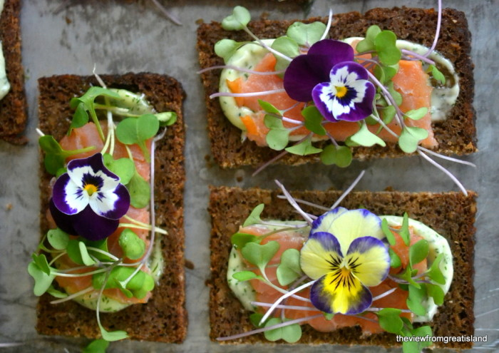 Nordic Smoked Salmon Open Faced Sandwiches a
