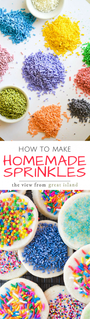 How to Make Homemade Sprinkles ~ This is one of those projects you might just want to keep to yourself. At the very least you'll probably get a quite a few quizzical looks, and some of your friends will actually wonder if all your cylinders are firing.