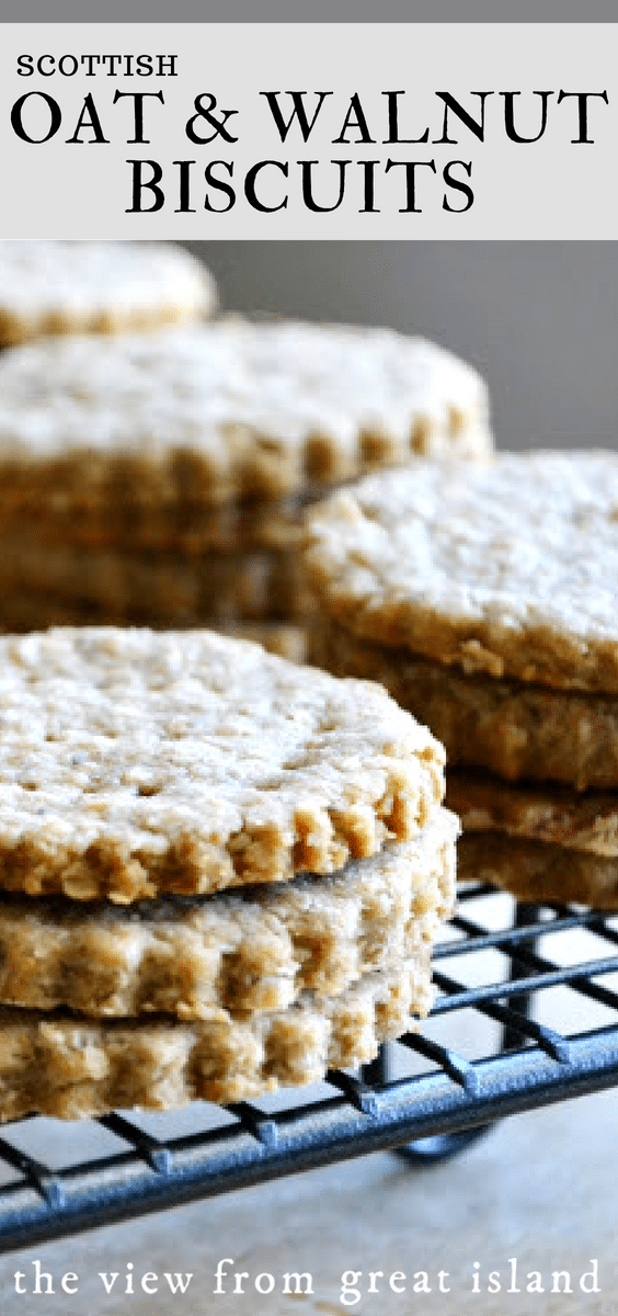 Scottish Oat and Walnut Biscuits pin