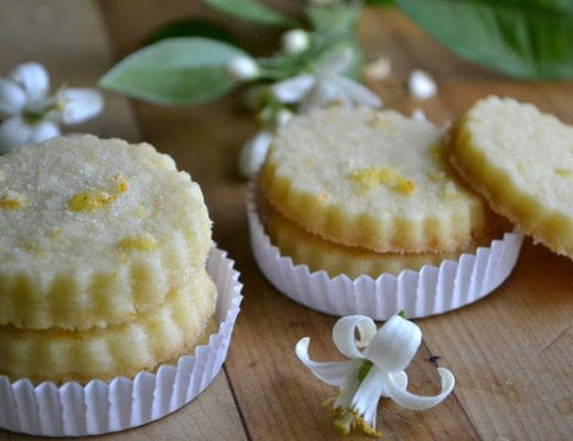 orange blossom shortbread cookies