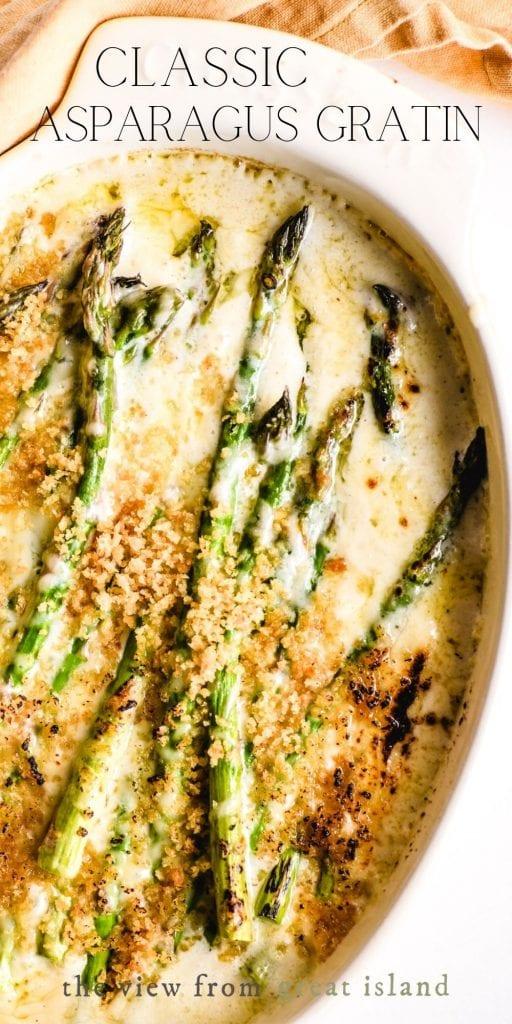 asparagus gratin pin