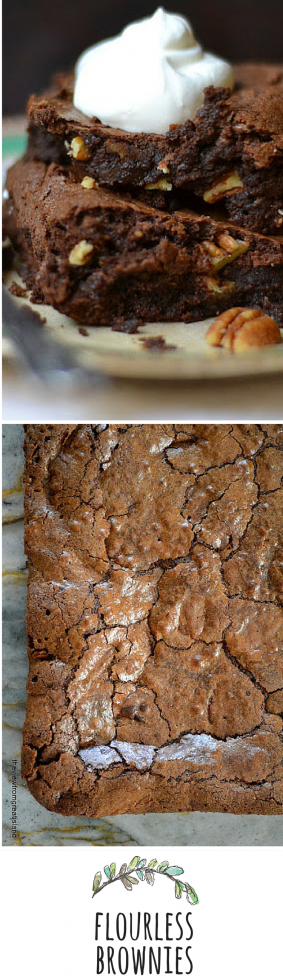 Decadent flourless brownies are gluten free and unimaginably rich!
