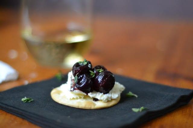 Roasted Black Grapes