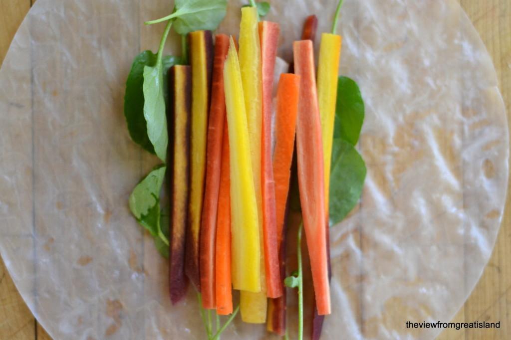 rainbow carrot sticks